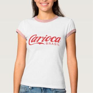 Camiseta Vermelho no T vermelho das meninas de Carioca