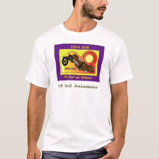 Camiseta Versão 1 do t-shirt dos homens do CÃO da DIVA