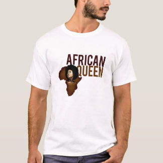 Camiseta Versão africana da rainha/Afrikan