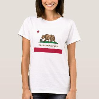 Camiseta Versão da couve da bandeira de Califórnia