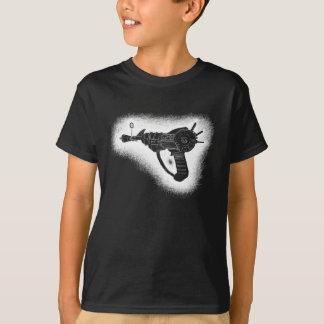 Camiseta versão esboçado do branco da arma de raio