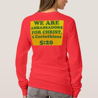 Camiseta Verso da bíblia de 2 5:20 dos Corinthians.