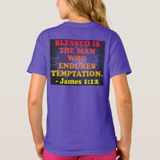 Camiseta Verso da bíblia do 1:12 de James.