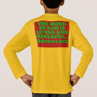 Camiseta Verso da bíblia do 4:12 dos hebraicos.