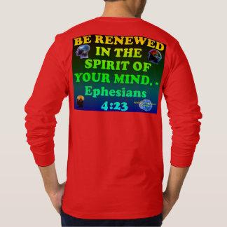 Camiseta Verso da bíblia do 4:23 de Ephesians.