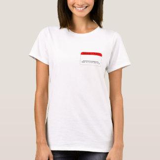 Camiseta Vestir sua etiqueta: Customizável