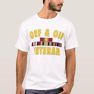 Camiseta Veterano de OEF & de OIF - logotipo dianteiro
