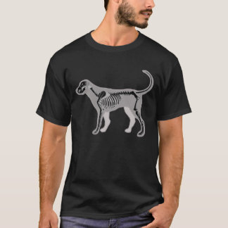 CAMISETA VETERINÁRIO DO RAIO X DA ANATOMIA DO CÃO