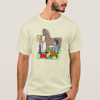 Camiseta Veterinário eqüino do tema do veterinário do