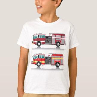 Camiseta Vetor do Firetruck