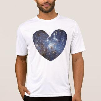 Camiseta Via Láctea da astronomia do impressão do amor da