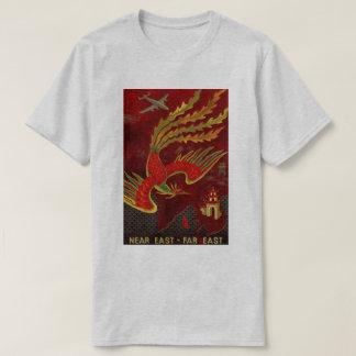 Camiseta Viagem aérea do vintage - Extremo Oriente