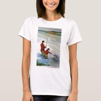 Camiseta Viagem de pesca do pai e do filho