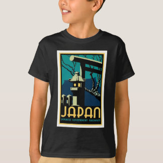 Camiseta Viagem japonês do mundo do vintage das estradas de