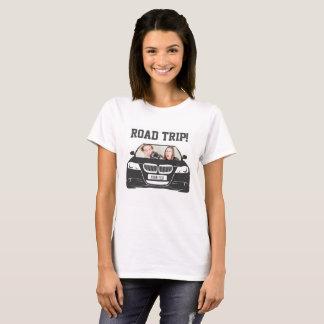 Camiseta Viagem por estrada feita sob encomenda engraçada