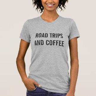 Camiseta Viagens por estrada e t-shirt das mulheres do café
