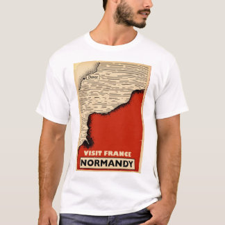 Camiseta Viagens vintage a Normandy, France