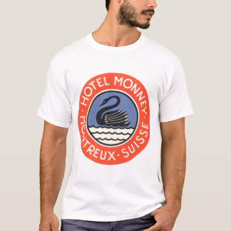 Camiseta Viagens vintage, suiça de Monney do hotel do