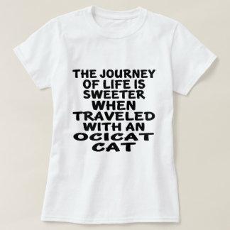Camiseta Viajado com gato de Ocicat