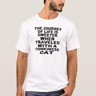Camiseta Viajado com gato de Tonkinese