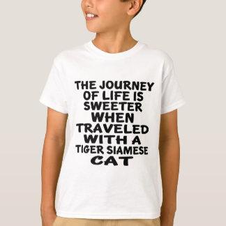 Camiseta Viajado com o gato siamese do tigre
