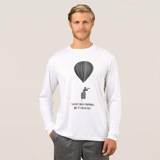 Camiseta Viaje com o balão de ar quente, o vintage e o