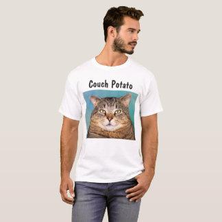 Camiseta Viciado em televisão do gato grande
