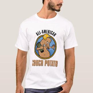 Camiseta Viciado em televisão Todo-Americano (customizável)