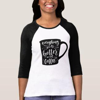 Camiseta Viciado engraçado Java do café, citações da
