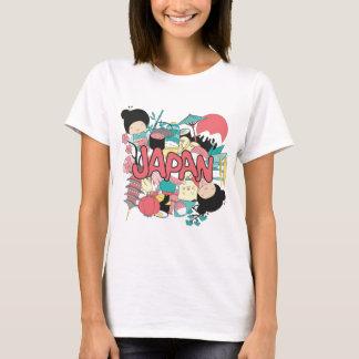 Camiseta Vida da parada de Ásia da cultura de Wellcoda