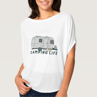 Camiseta Vida de acampamento feliz com Frenchies bonitos