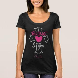 Camiseta Vida de Bling mim Bling para o t-shirt do pescoço