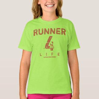 Camiseta Vida do corredor 4 - rosa e verde limão