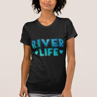 Camiseta Vida do rio com textura subaquática azul e verde