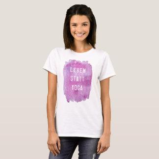 Camiseta Vida em vez de yoga