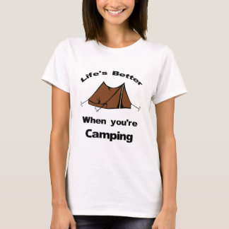 Camiseta Vida melhor quando você acampar