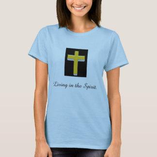 Camiseta Vida no t-shirt das mulheres da cruz do espírito