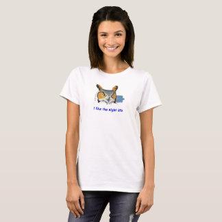 Camiseta Vida nocturna T da coruja - mulheres