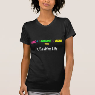 Camiseta Vida, rindo, amando