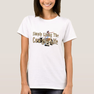 Camiseta Vida simplesmente viva da vaqueira do T