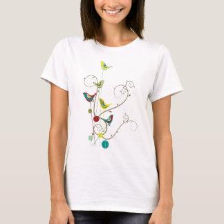 Camiseta Videiras modernas da natureza dos redemoinhos