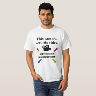 Camiseta Videographer, não fotógrafo