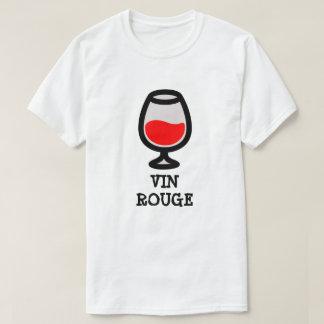 Camiseta Vidro com vermelho do vin do vinho tinto e do