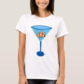 Camiseta Vidro de Martini dos peixes do palhaço de Fishtini