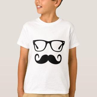 Camiseta Vidros do hipster & bigode do guiador