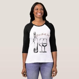 Camiseta Vidros meio cheios (garrafa de vinho)