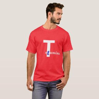 Camiseta Vigor. Edição vermelha, branca e azul