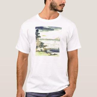 Camiseta Vila japonesa do vintage pela arte de Woodblock do
