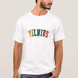 Camiseta Vilnius em cores da bandeira nacional de Lithuania