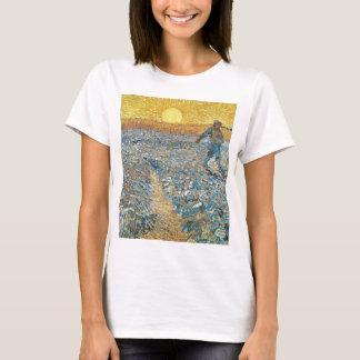 Camiseta Vincent van Gogh a arte da pintura do Sower